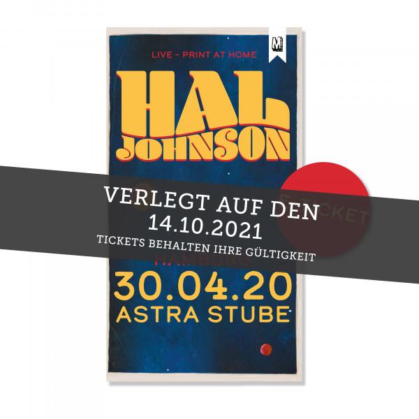 Print@Home Ticket - Hal Johnson - Hamburg 14.10.2021 (ehemals 30.04.20 / 16.07.20 / 09.04.21)