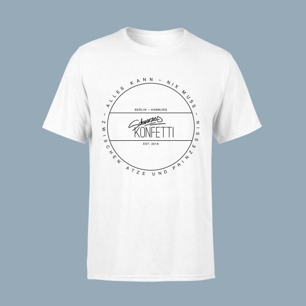 Schwarzes Konfetti Unisex Shirt - Alles kann - nix muss