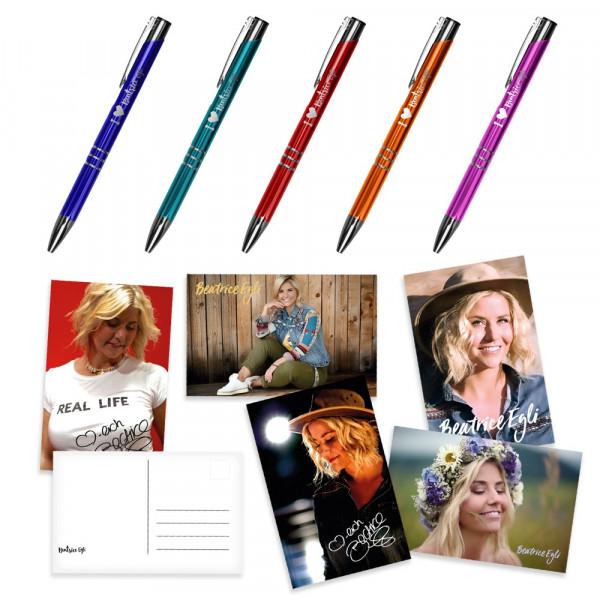 Kugelschreiber-Set mit Postkarten