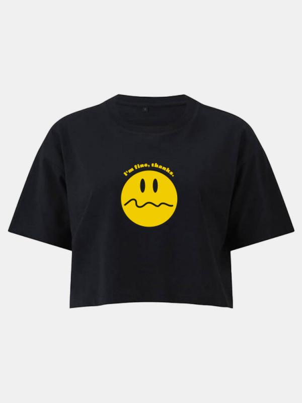 I'm fine, thanks cropped Shirt