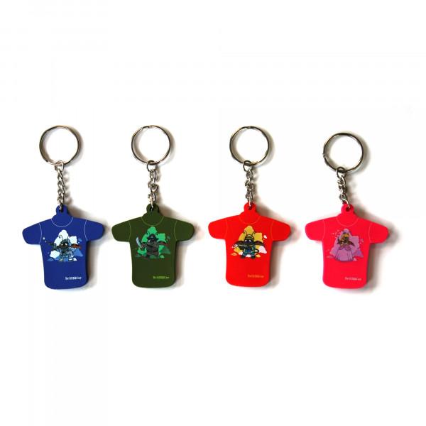 Schlüsselanhänger - Bartholinis 4er Set