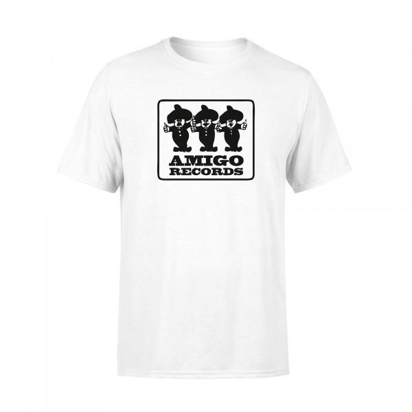 T-Shirt - Amigo Records, weiss