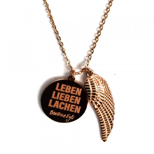 Halskette - Leben, Lieben, Lachen