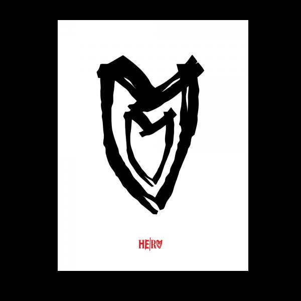 Poster - Heart, white