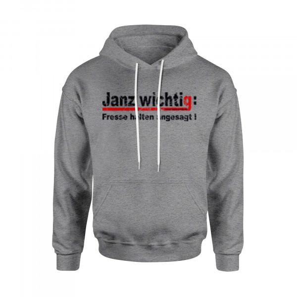 Kapuzen-Sweater (unisex) - Janz wichtig: Fresse halten angesagt!