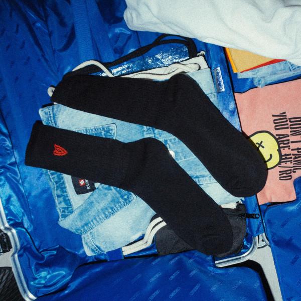 Socken - Heart, black