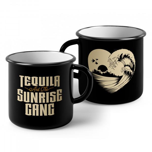 Tequila & the Sunrise Gang - Emaille-Becher