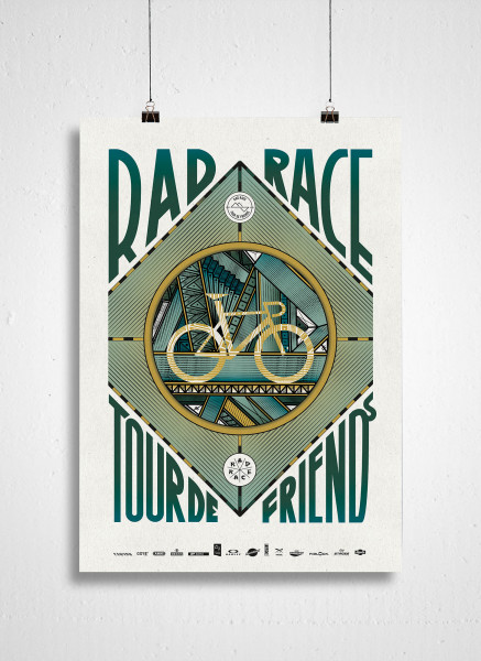 RAD RACE - Tour De Friends 2018 Poster