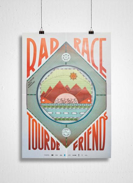 RAD RACE - Tour De Friends 2017 Poster