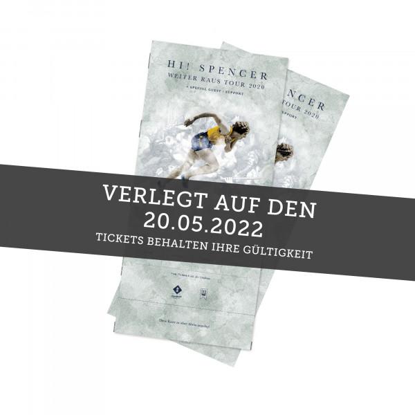 Hardticket - Hi! Spencer - Ibbenbüren 20.05.2022 (ehemals 24.10.20 / 21.05.21)