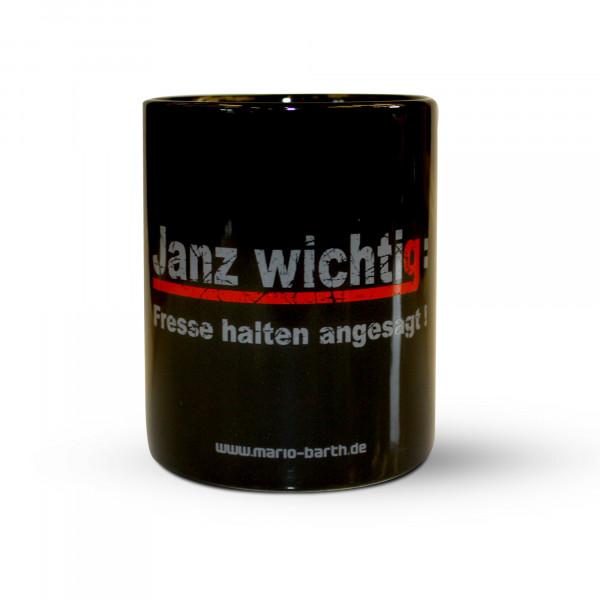 Kaffeepott - Janz wichtig: Fresse halten angesagt!