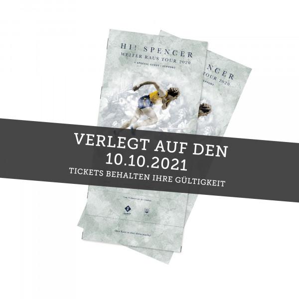 Hardticket - Hi! Spencer - Hannover 14.04.2022 (ehemals 10.10.2021)