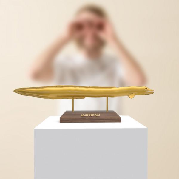 Aalles Über Aale - Skulptur Aal