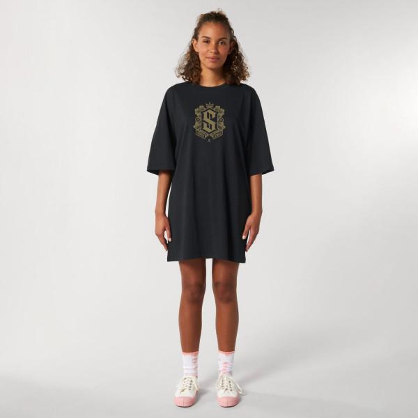 T-Shirt Kleid - Logo Gold