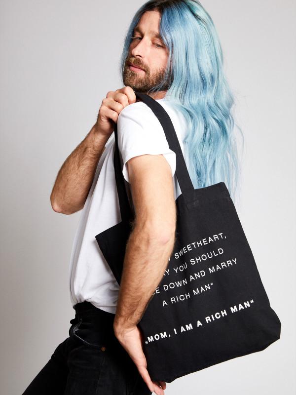 I Am A Rich Man Statement Tote Bag