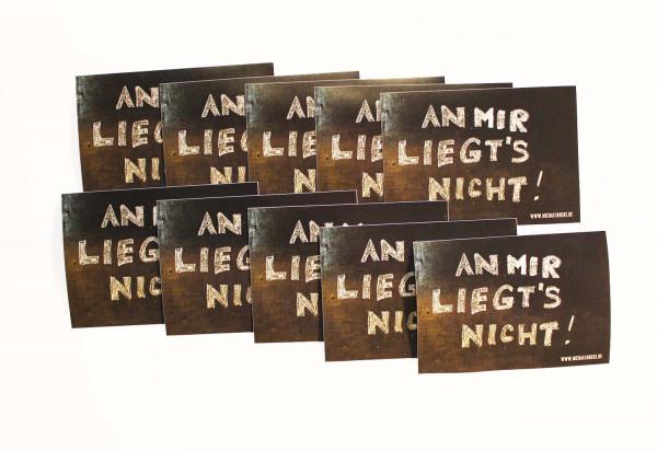 Michael Krebs 10er Stickerset - An Mir Liegt's Nicht