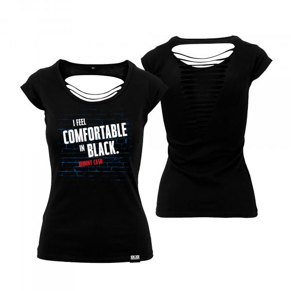 """RADIO BOB! - Slim Cut Shirt """"Comfortable in Black"""""""