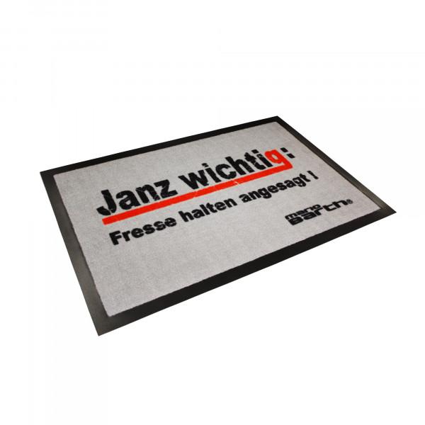 Fußmatte - Janz wichtig: Fresse halten angesagt! (mit Gummirand)