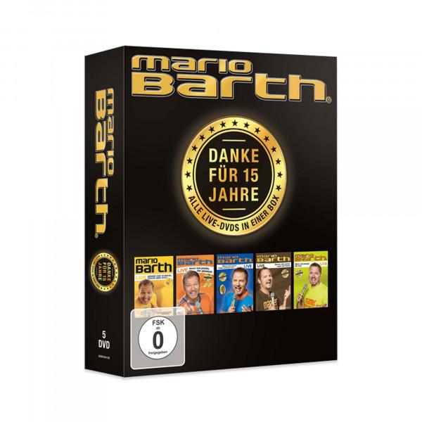 5-DVD - Danke für 15 Jahre - Alle 5 Live-DVD's in einer Box