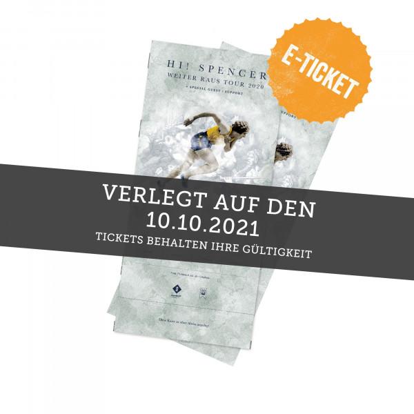 Print@Home Ticket - Hi! Spencer - Hannover 10.10.2021 (ehemals 11.04.20 / 22.10.20)
