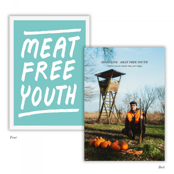 """Shoreline - Poster - Meat Free Youth (A3 - """"gefaltet auf A4"""")"""