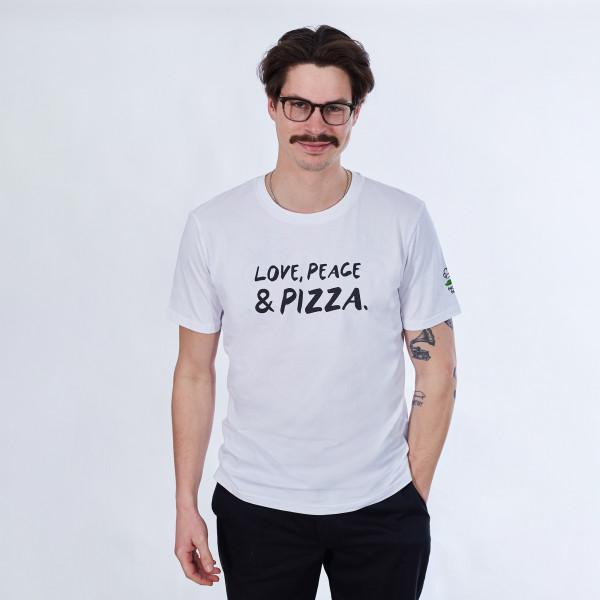 T-Shirt - Love, Peace & Pizza