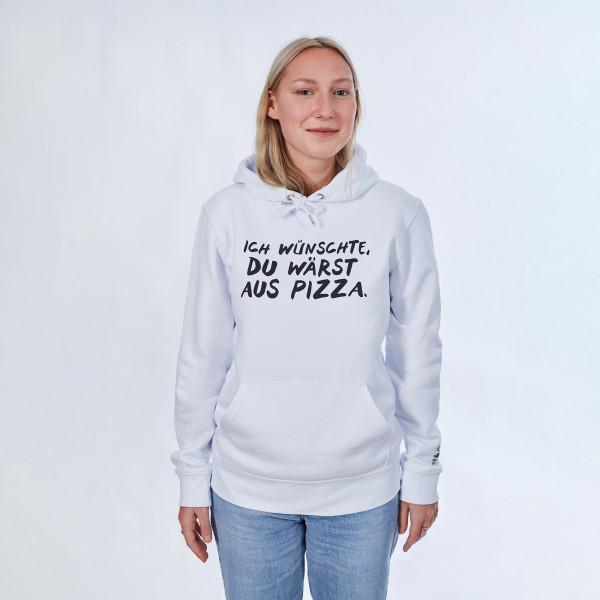 Hoodie - Ich wünschte du wärst aus Pizza