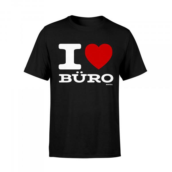 T-Shirt - I Love Büro, schwarz