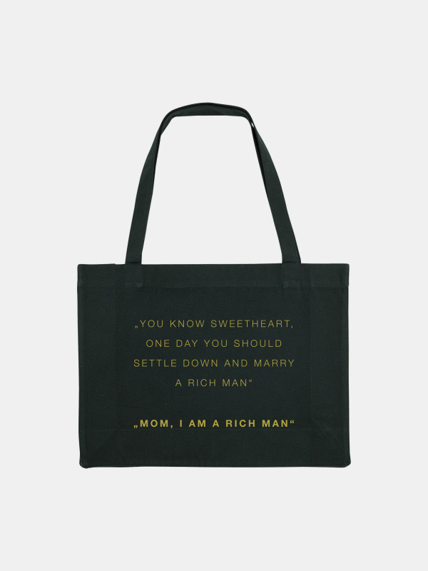 I Am A Rich Man Statement Shopping Bag Gold Edition