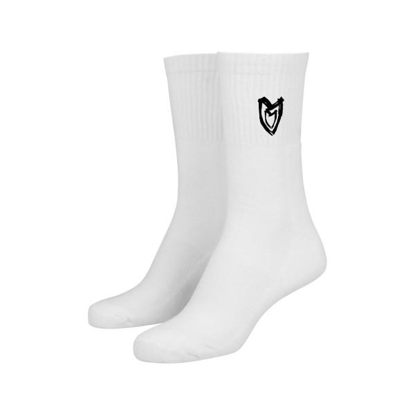 Socken - Heart, white