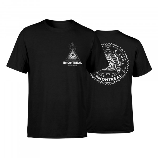 T-Shirt - Dreieck & Auge, schwarz