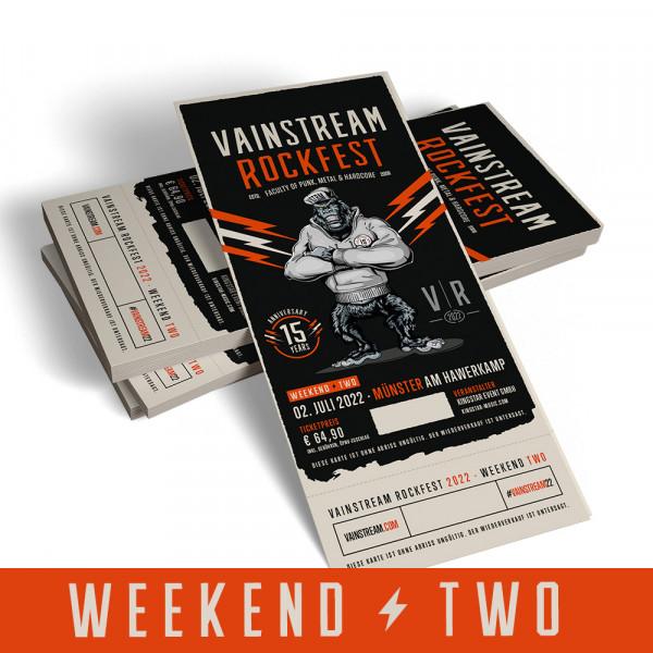 Vainstream Festivalticket Weekend Two - 2022 (Early Bird)