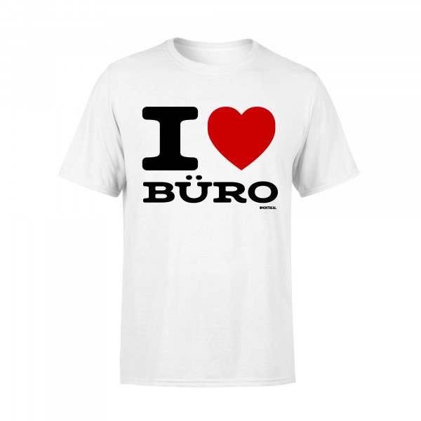 T-Shirt - I Love Büro, weiss