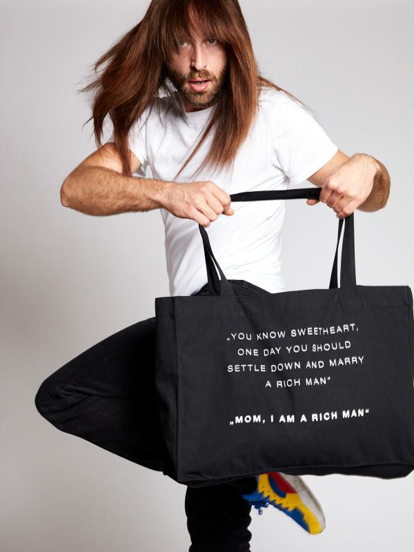 I Am A Rich Man Statement Shopping Bag