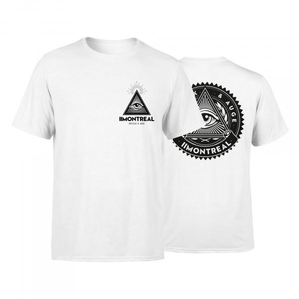 T-Shirt - Dreieck & Auge, weiss