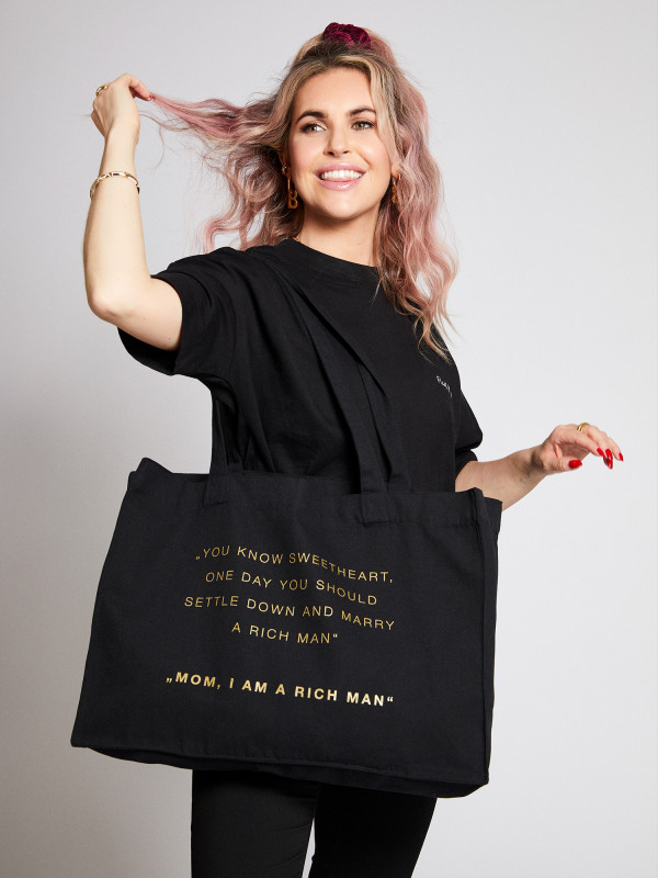 I Am A Rich Man Statement Shopping Bag Gold Edition