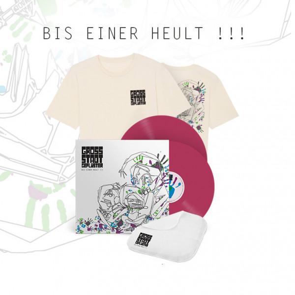 Bundle - Bis Einer Heult !!! - (LP / T-Shirt / Taschentuch / Sticker)