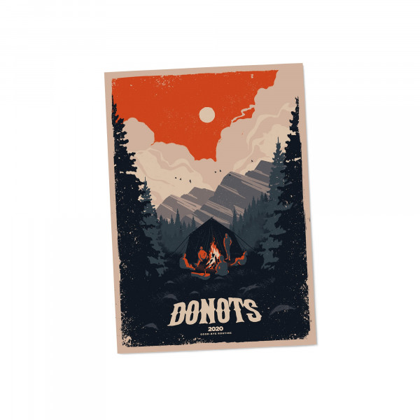 Donots Siebdruckposter - Camping
