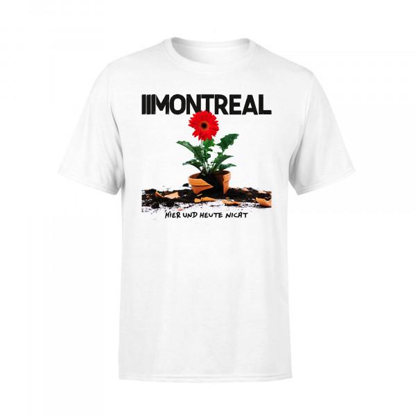 T-Shirt - Hier und heute nicht, weiss